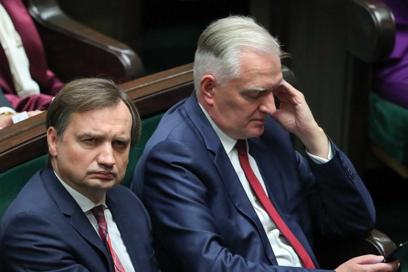 Zbigniew Ziobro i Jarosław Gowin /fot. Andrzej Iwanczuk /Reporter