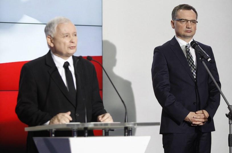 Zbigniew Ziobro i Jarosław Kaczyński /Stefan Maszewski /Reporter