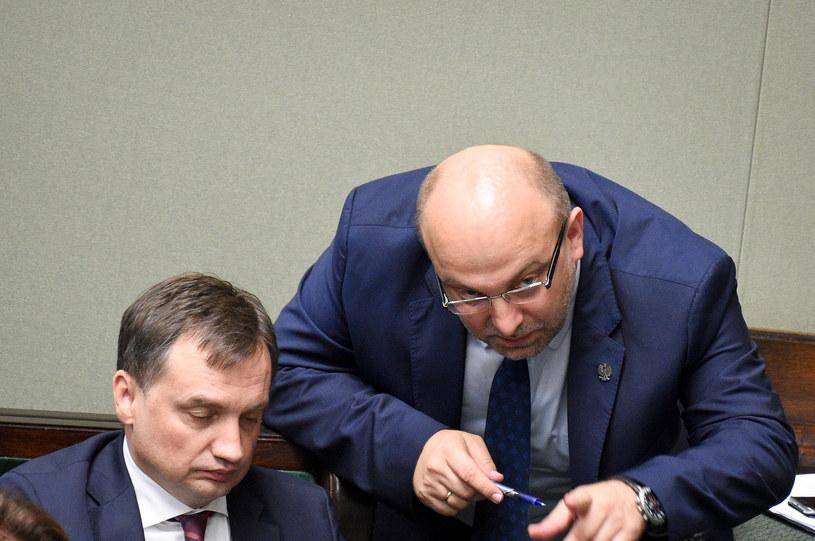 Zbigniew Ziobro i Łukasz Piebiak /Jacek Dominski/ /Reporter
