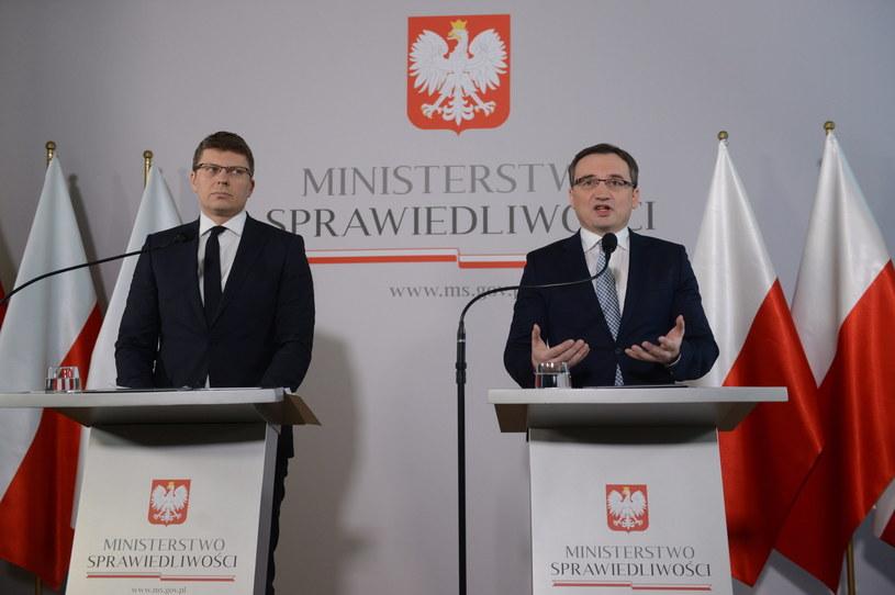 Zbigniew Ziobro i Marcin Warchoł /Jakub Kamiński   /PAP
