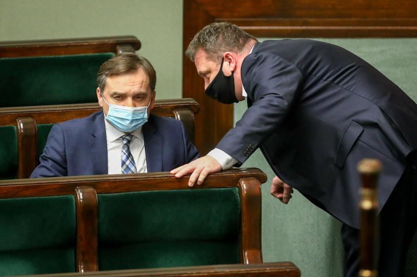 Zbigniew Ziobro i Michał Wójcik /Tomasz Jastrzębowski /Reporter