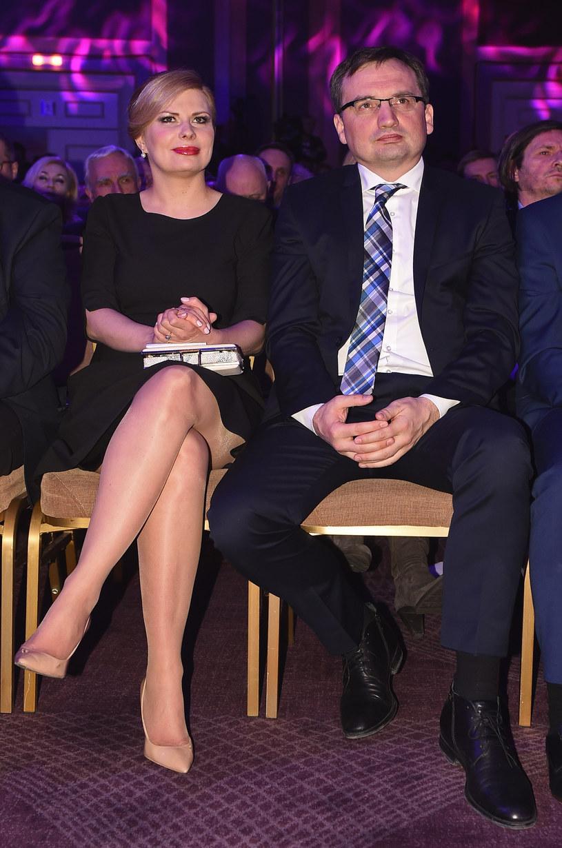 Zbigniew Ziobro i Patrycja Kotecka /Chełstowski  /Agencja FORUM