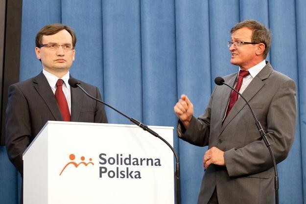 Zbigniew Ziobro i Tadeusz Cymański/fot. K. Serewis /East News