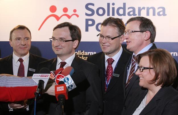 Zbigniew Ziobro i towarzysze / fot. P. Supernak /PAP