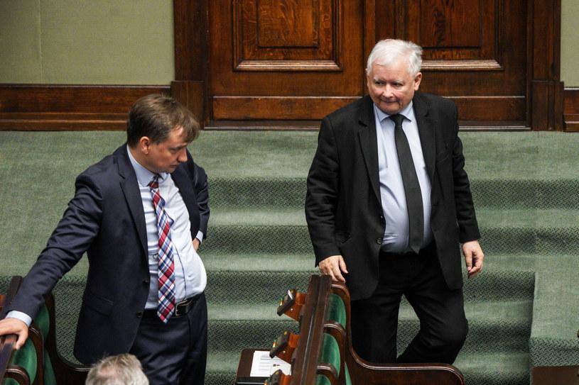 Zbigniew Ziobro, Jarosław Kaczyński /Jacek Dominski/ /Reporter