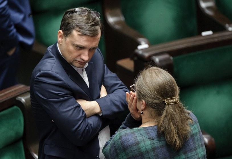 Zbigniew Ziobro o Krystyna Pawłowicz /Rafal Oleksiewicz /Reporter