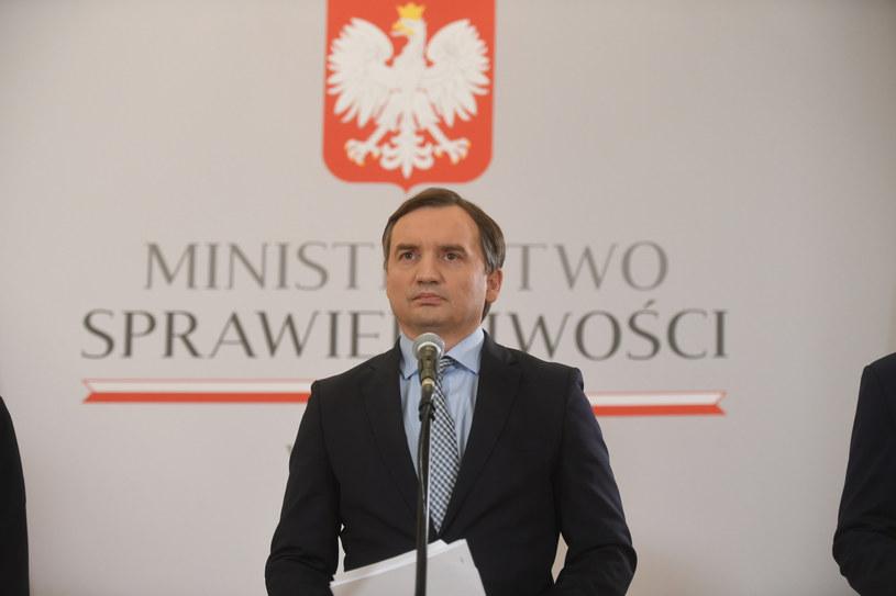 Zbigniew Ziobro podczas konferencji prasowej /Jacek Dominski/REPORTER /Reporter