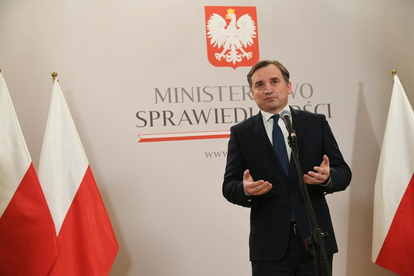 Zbigniew Ziobro podczas konferencji prasowej / Jacek Dominski /REPORTER /Reporter