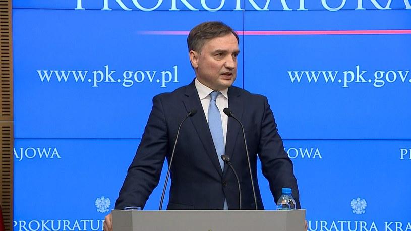Zbigniew Ziobro podczas konferencji prasowej /Polsat News