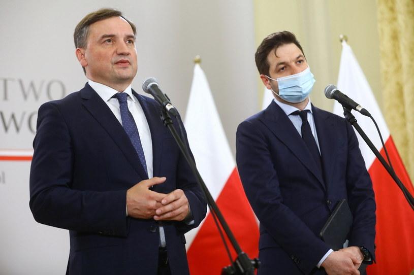 Zbigniew Ziobro podczas konferencji prasowej /PAP/Rafał Guz /PAP