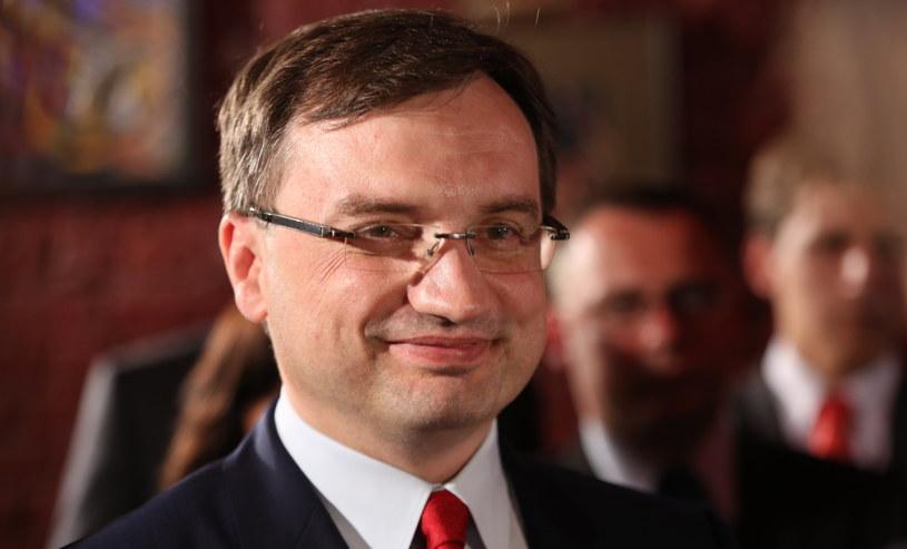 Zbigniew Ziobro podczas wieczoru wyborczego /Leszek Szymański /PAP