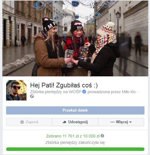 Zbiórka pana Miłosza /Zrzut ekranu