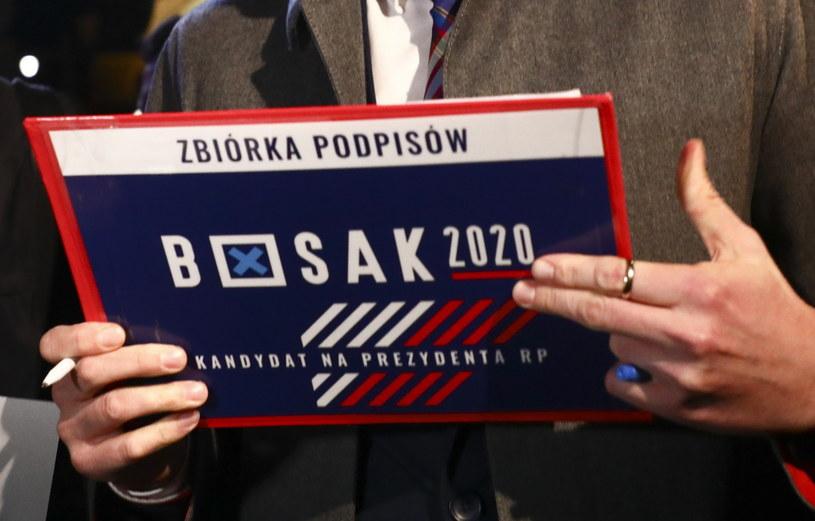 Zbiórka podpisów pod kandydaturą Krzysztofa Bosaka /Beata Zawrzel /Reporter