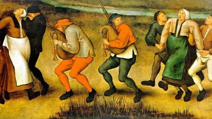 Zbiorowa halucynacja, czy strach? Co pchnęło ludzi w wir szalonego tańca? /materiały prasowe