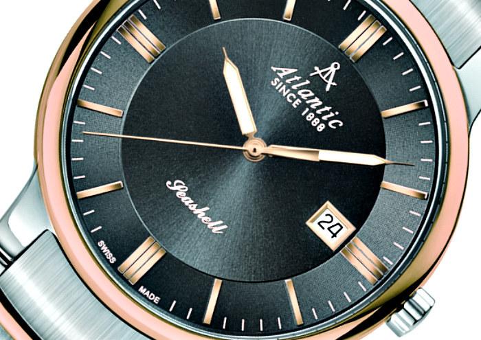 Zbliżenie na tarczę zegarka Atlantic Seashell /materiały prasowe