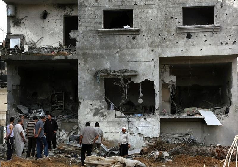 Zbombardowane budynki w Strefie Gazy /MOHAMMED SABER  /PAP/EPA