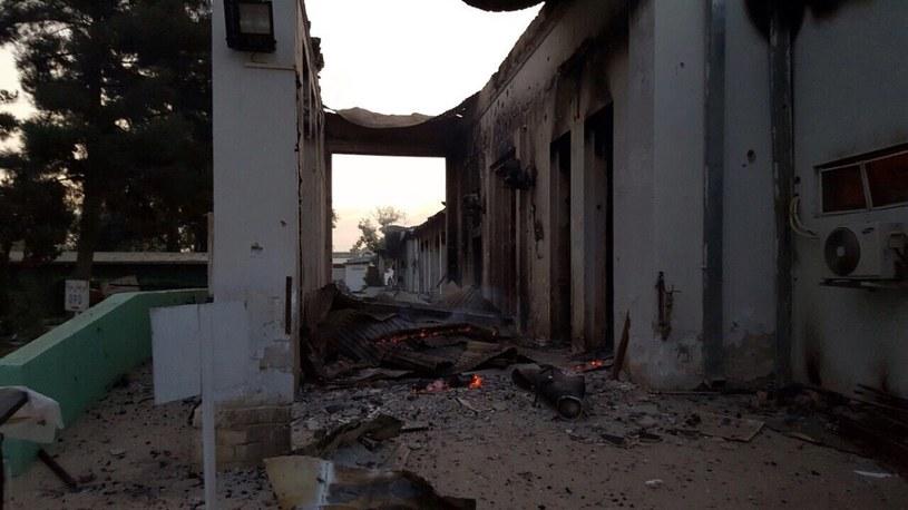 Zbombardowany szpital w Kunduzie /PAP/EPA