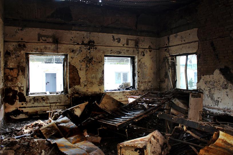 Zbombardowany szpital w Kunduzie /AFP