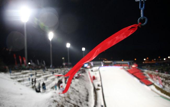 Zbyt silny wiatr może uniemożliwić rozegranie zawodów Pucharu Świata w Zakopanem /Grzegorz Momot /PAP