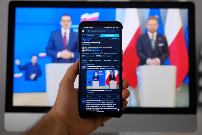 Zdalna konferencja premiera i ministra zdrowia /Mateusz Marek /PAP