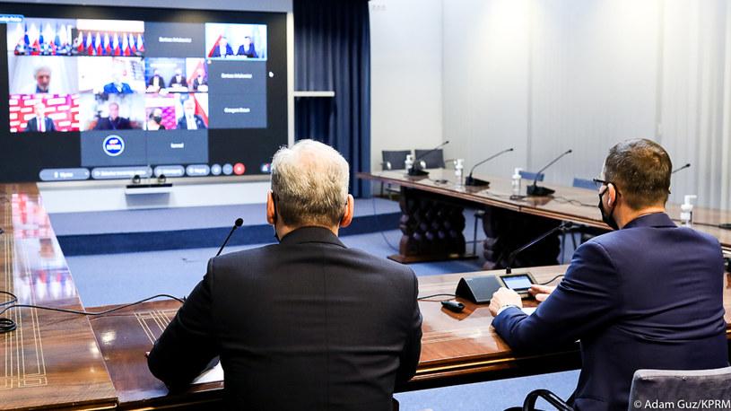 Zdalne spotkanie z premierem w sprawie szczepień /Adam Guz /materiały prasowe