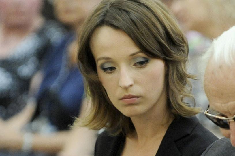 Zdaniem wielu osób Kamila na pogrzebie miała zbyt mocny makijaż. Czy słusznie? /Mieszko Pietka /AKPA