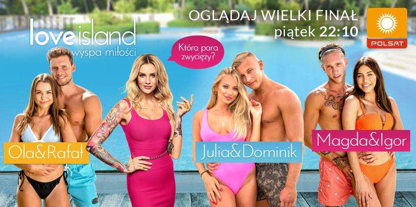 """Zdecyduj w głosowaniu w bezpłatnej aplikacji """"Wyspa miłości"""", kto ma wygrać program! /Polsat/Ipla /Polsat"""