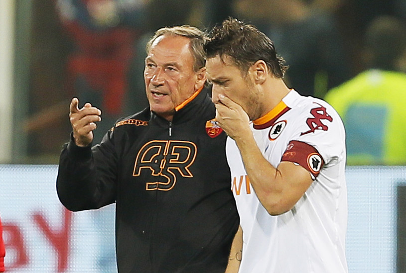 Zdenek Zeman (z lewej) i Francesco Totti /AFP