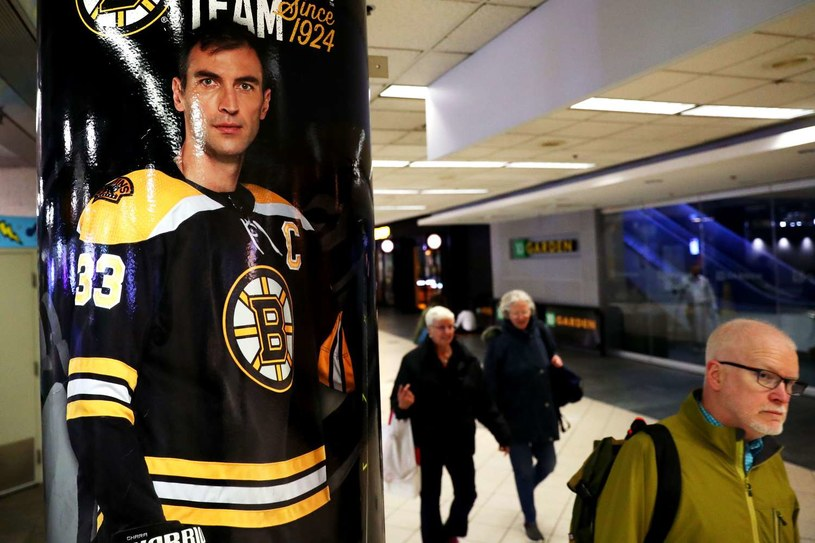 Zdeno Chara to symbol Boston Bruins /AFP
