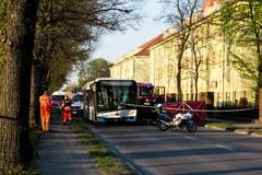 Zderzenie autobusu z osobówką w Szczecinie