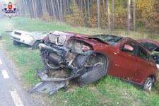 0007O52KW66DBFA6-C307 Zderzenie BMW i Volvo. W obu młodzi kierowcy