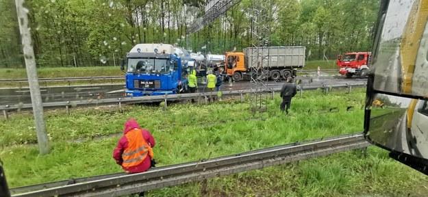 Zderzenie ciężarówek na A4 /Gorąca Linia RMF FM