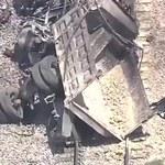 Zderzenie ciężarówki i pociągu. Dwie osoby zginęły