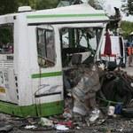 Zderzenie ciężarówki z autobusem w Moskwie