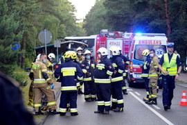 Zderzenie dwóch autokarów i busa w Dźwirzynie