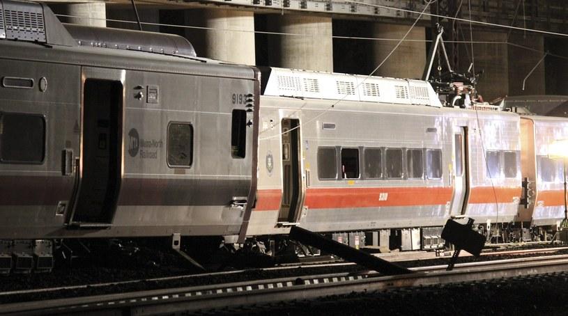 Zderzenie dwóch pociągów podmiejskich pod Fairfield /AFP