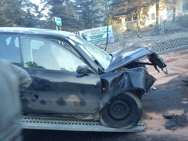 Zderzenie dwóch samochodów w Małopolsce /RMF