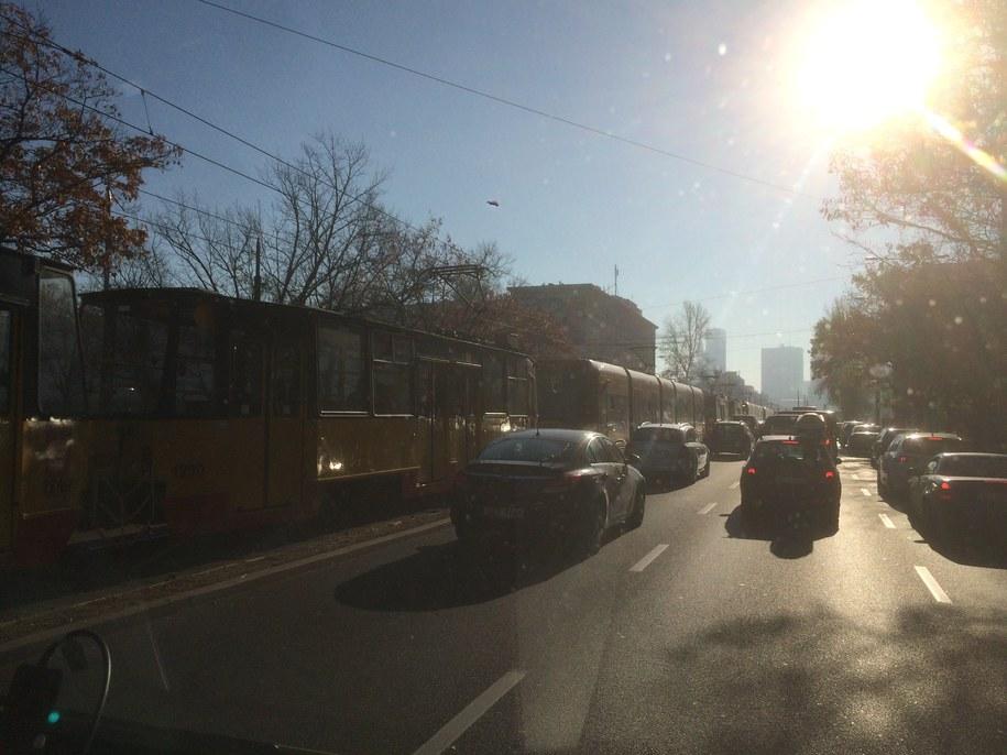 Zderzenie dwóch tramwajów w Warszawie /Krzysztof Zasada /RMF FM