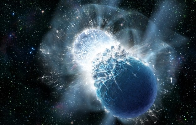 Zderzenie gwiazd - wizualizacja.  Fot. Dana Berry, SkyWorks Digital, Inc. /materiały prasowe