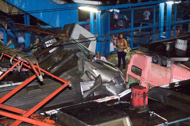 Zderzenie pociągów na stacji Mesquita pod Rio De Janeiro fot. Douglas Viana /AFP