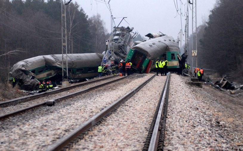 Zderzenie pociągów pod Szczekocinami /Marek Lasyk  /Reporter