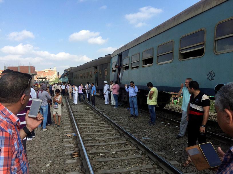 Zderzenie pociągów w Egipcie /REUTERS/Osama Nageb /Agencja FORUM