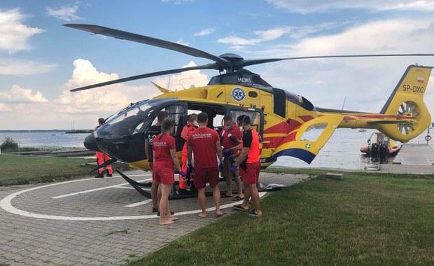 Zderzenie skuterów wodnych na Jeziorze Zegrzyńskim, 30-latek trafił do szpitala