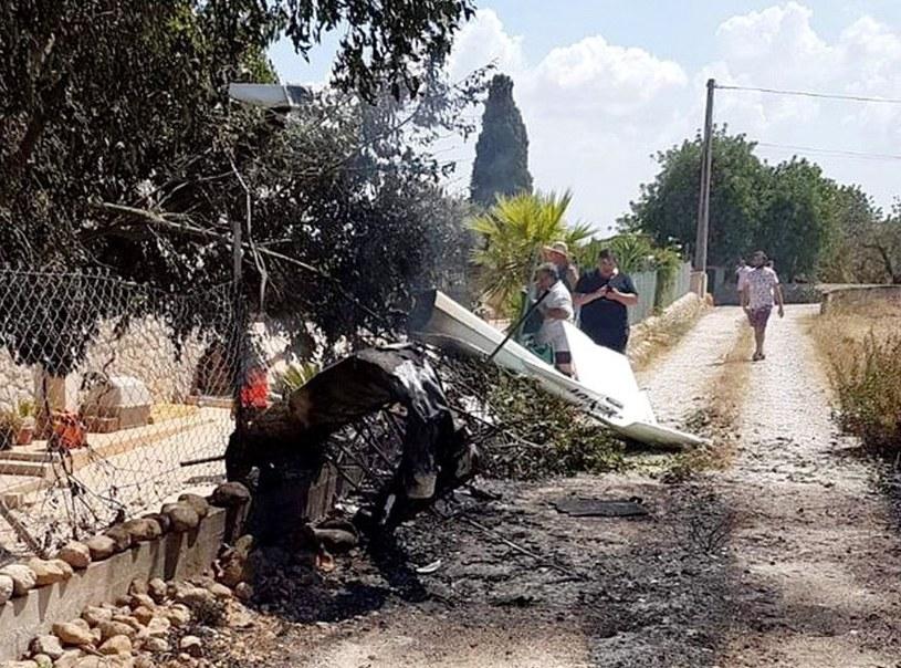 Zderzenie śmigłowca z małym samolotem na Majorce /Incendios F. Baleares /PAP/EPA