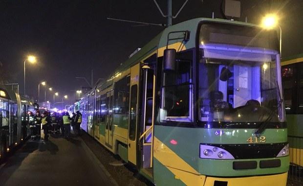 Zderzenie tramwajów w Poznaniu. Motorniczy doznał ciężkich urazów