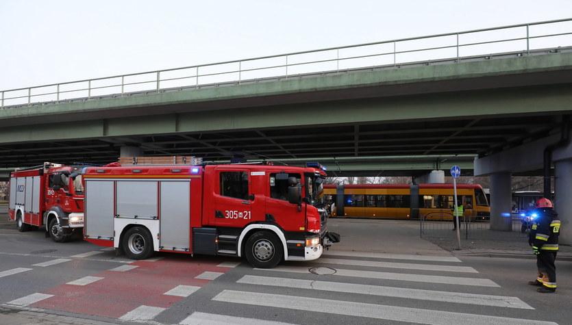 Zderzenie tramwajów w Warszawie. Do wypadku wyjechała straż