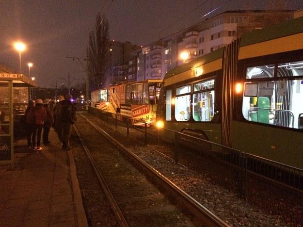 Zderzenie tramwajów /Adam Górczewski /RMF FM