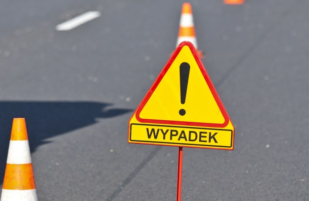 Zderzenie trzech tirów i osobówki na A2 w kierunku Świecka /Piotr Jędzura /Reporter