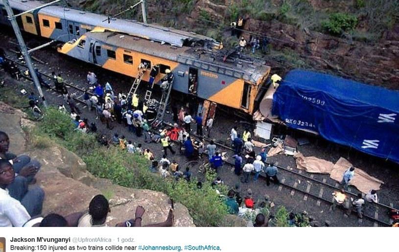 Zderzeniu pociągów w Johannesburgu: Ponad 150 rannych /Twitter