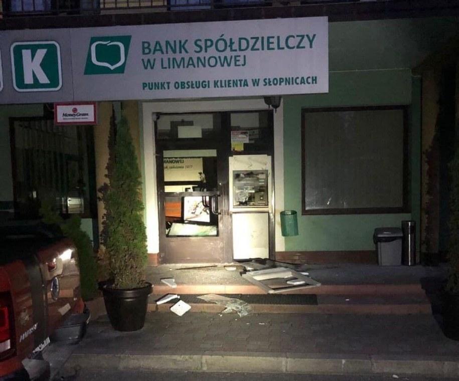 Zdewastowany bankomat w Słopnicach /Gorąca Linia RMF FM